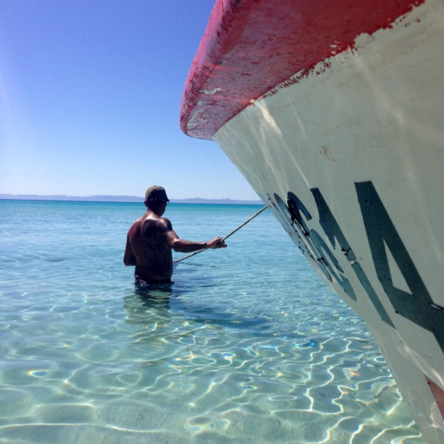 The waters in the Sea of Cortez are amazing. You know- if spear fishing, swimming, snorkeling, windsurfing and enjoying the sun are your thing...#travel #bajacalifornia #seaofcortez #ocean #laplaya #elmar #mexico