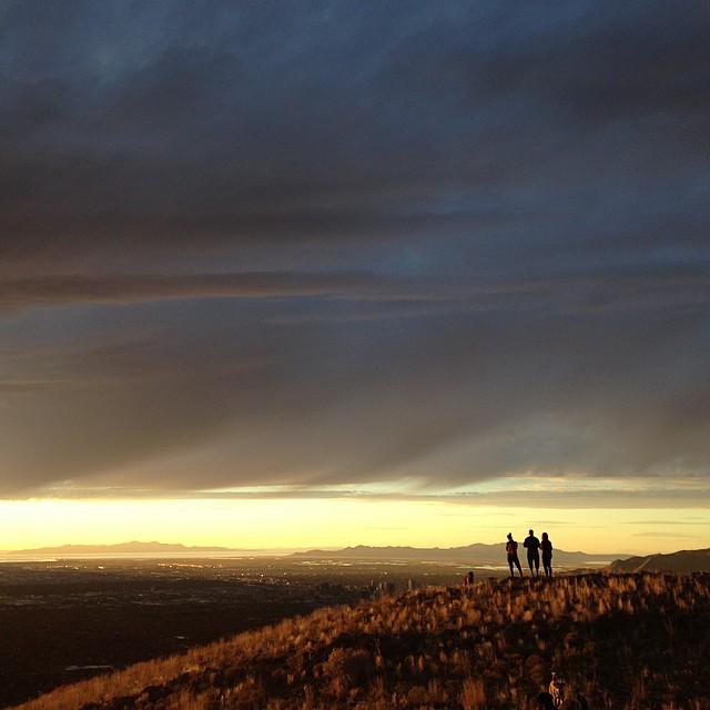 The view above Salt Lake City. #vista #utah #twitter