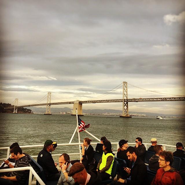 So beautiful. So bored. #baybridge #commuting #boatlife