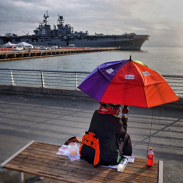 Big boats are leaving town. #sanfrancisco #carrier giantsfan
