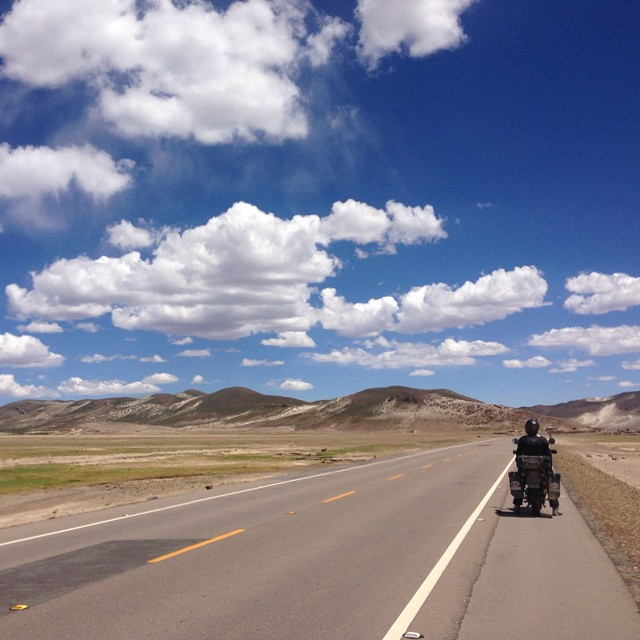 With clouds this beautiful you just have to pull over and enjoy them... #bolivia #sur_america #america_sur #travelgram #roadtrip #adv #advriding #klr #klr650