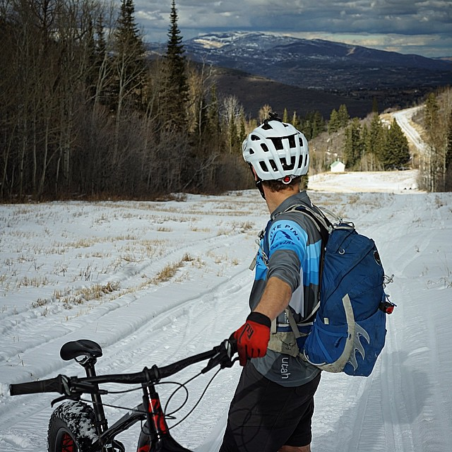 Fatbike slope-style in Deer Valley. #fattie #gouptogodown #twitter #fb